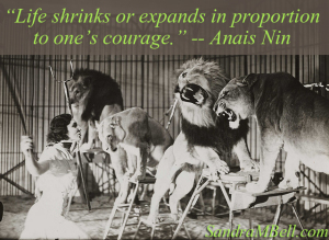 Life shrinks expands-courage w qt copy